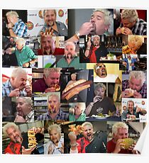 50 Shades of Guy Fieri Flavortown Food Collage Funny FULL SIZE Poster