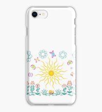 The sun, butterflies, flowers iPhone Case/Skin