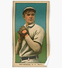 Benjamin K Edwards Collection Christy Mathewson New York Giants baseball card portrait 001 Poster