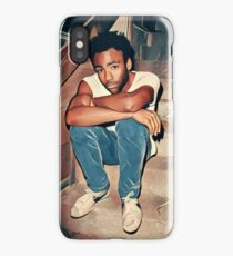 Childish Gambino - Candid Photo Abstract Painting Art Edit iPhone Case/Skin
