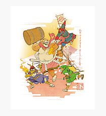 Super Smash ukiyo-e Photographic Print