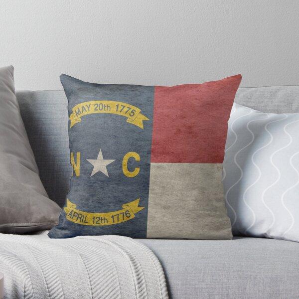 North Carolina USA State Flag Throw Pillow