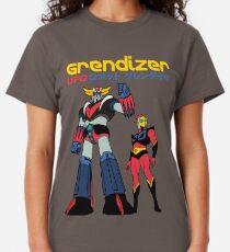 Black T-Shirts GRENDIZER GOLDRAKE UFO ROBOTS MANGA Mens Grey White Tee S-3XL