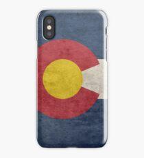 Grunge Colorado Flag iPhone Case/Skin
