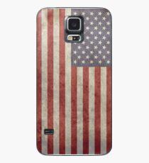 Grunge USA-Flagge iPhone Handy-Fall Hülle & Klebefolie für Samsung Galaxy