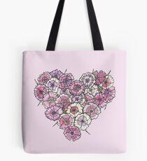 Rosa Herz Tote Bag