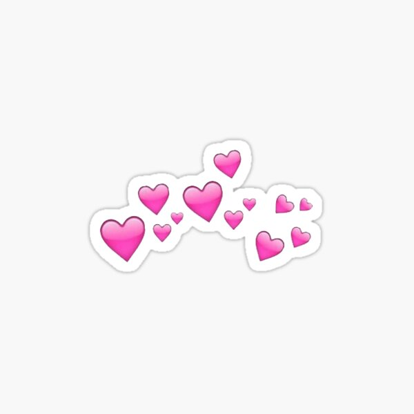 heart emoji cloud Sticker