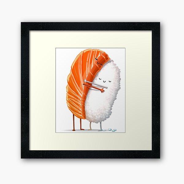 Sushi Hug Framed Art Print