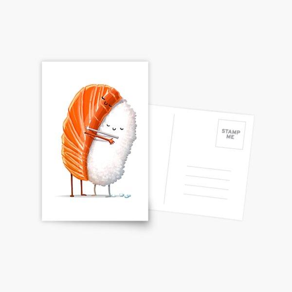 Sushi Hug Postcard