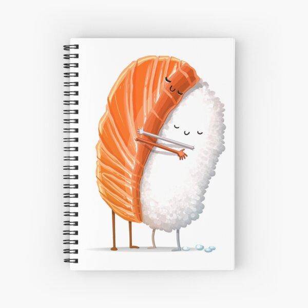 Abrazo de sushi Cuaderno de espiral