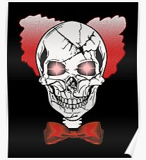 Halloween Scary Skull Clown Face Party T-shirt  Poster
