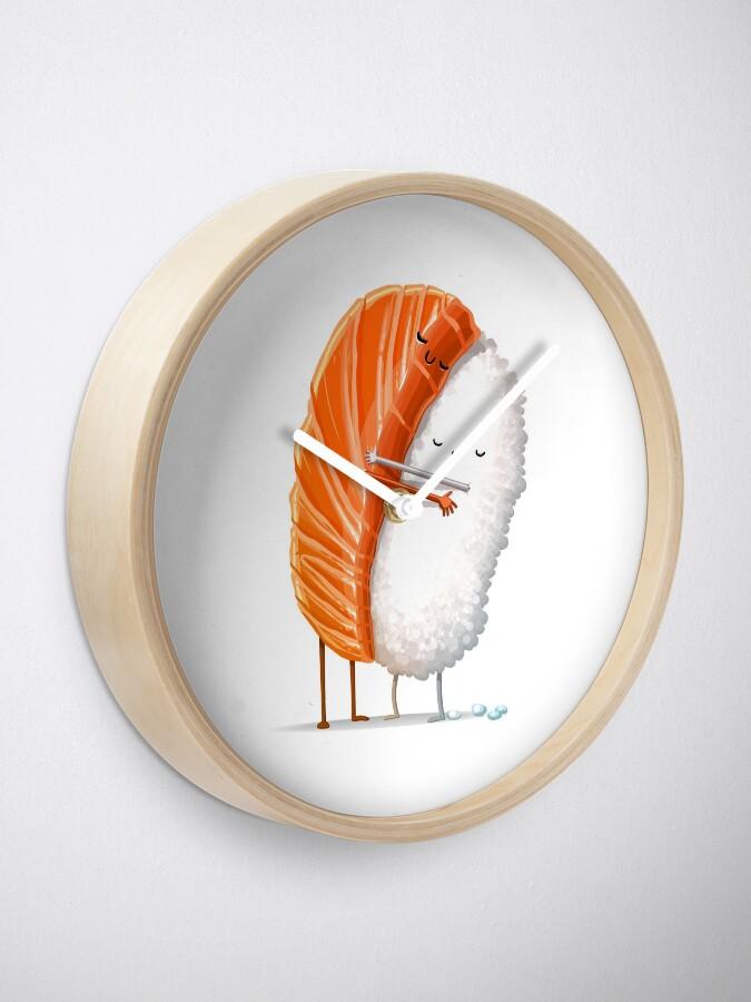Alternate view of Sushi Hug Clock