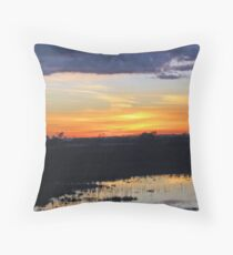 stormy sunrise Throw Pillow
