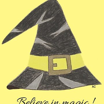 Wizard's hat on a yellow background by iCraftCafe