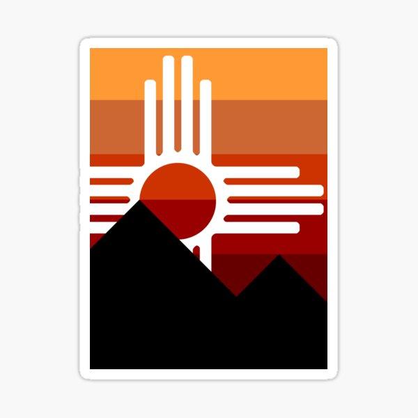 minimalist zia mountain sunset Sticker