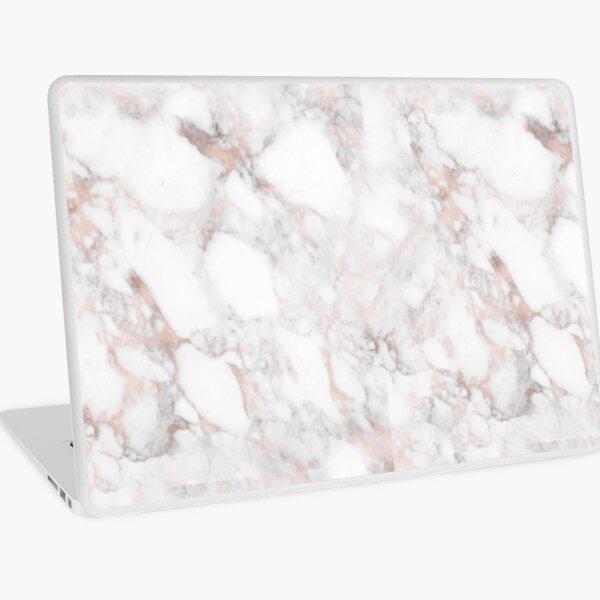 Rose Gold Marble White Laptop Skin