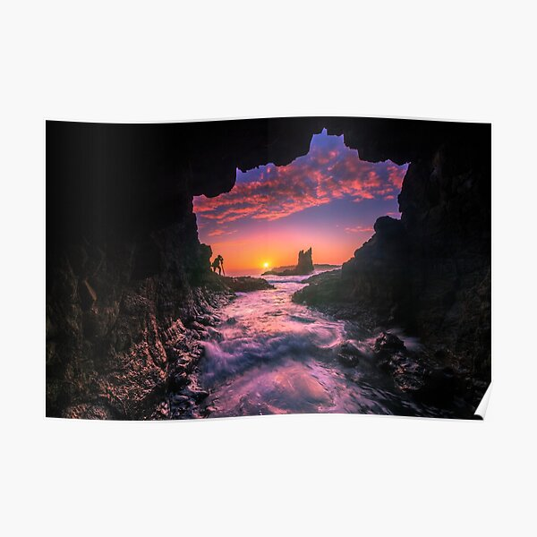 Cathedral Rocks Cave Poster