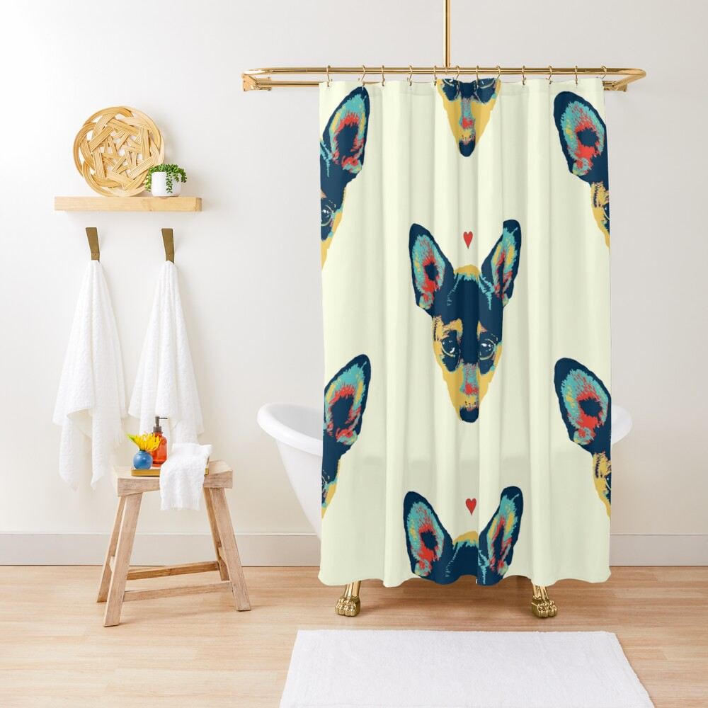 Pet Thoughts - Love Shower Curtain