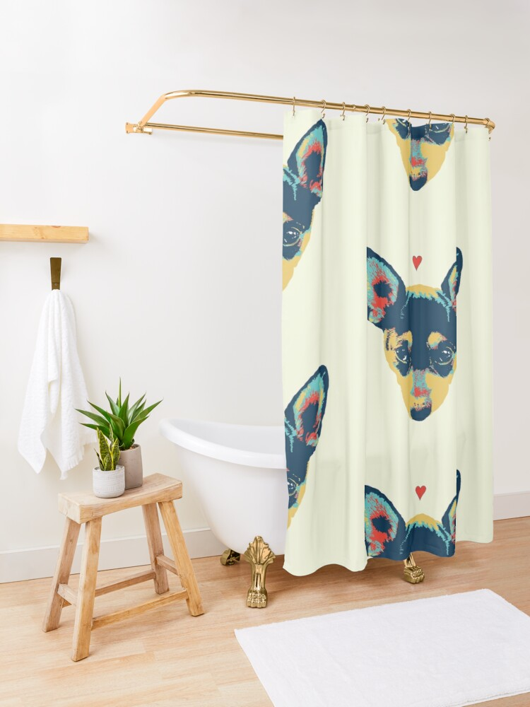 Alternate view of Pet Thoughts - Love Shower Curtain