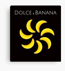 Official Dolce & Banana - Funny Mens T-Shirt 100% Cotton NEW RELEASED! Canvas Print