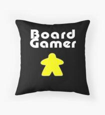 Board Gamer T-Shirt Throw Pillow