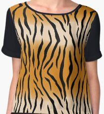 Tiger Stripes Pattern Dress Women's Chiffon Top