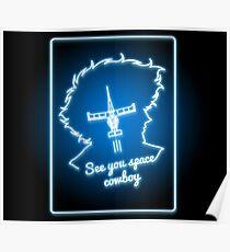 Neon Weltraum Cowboy Poster