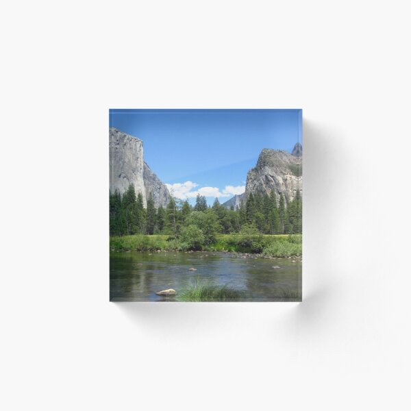 Yosemite National Park Sticker Acrylic Block