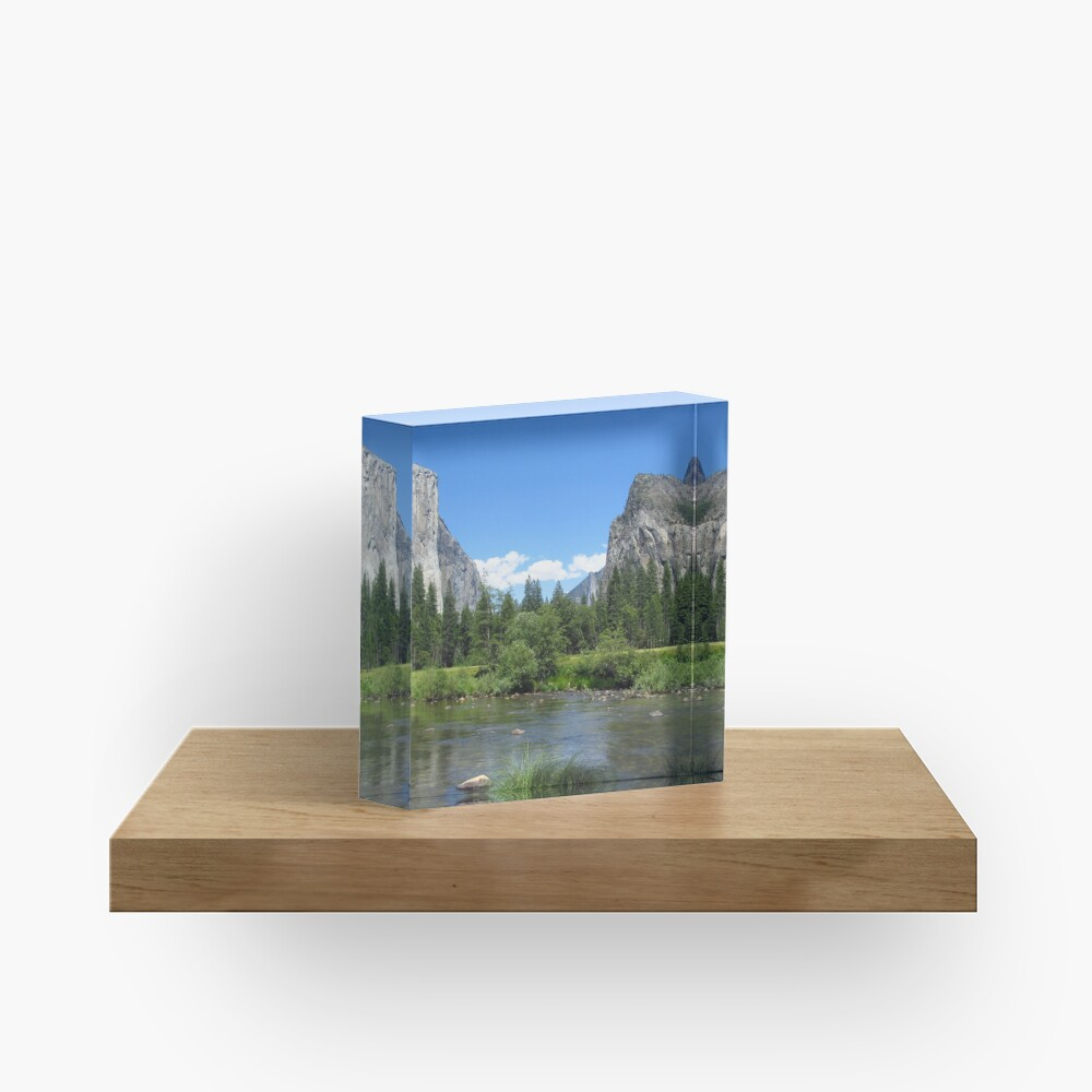 Yosemite National Park Sticker Acrylic Block