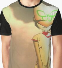 BROKEN! NOODLE AND RUSSEL: GORILLAZ PLASTIC BEACH Graphic T-Shirt