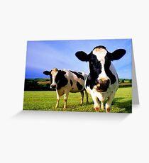 Earthworm Jim Groovy Cows Greeting Card