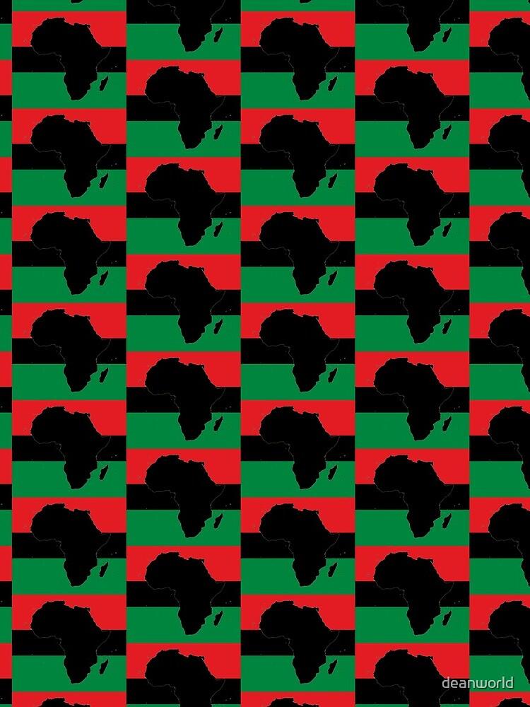Symbol von Afrika - Panafrikanische Flagge von deanworld