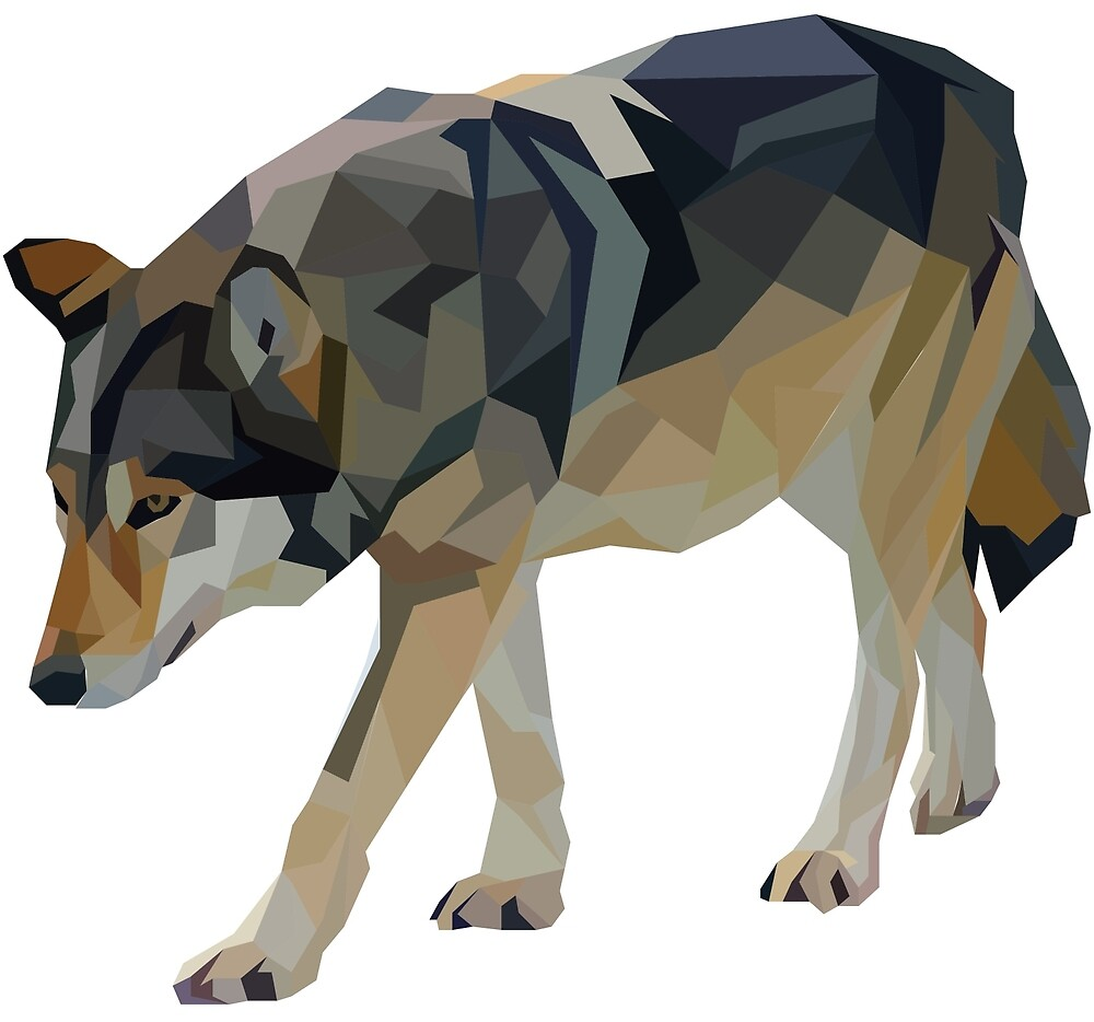 Crystalline Timber Wolf by Marshall Diveley