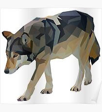 Crystalline Timber Wolf Poster