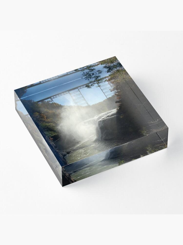 Alternate view of Autumn Falls Acrylic Block