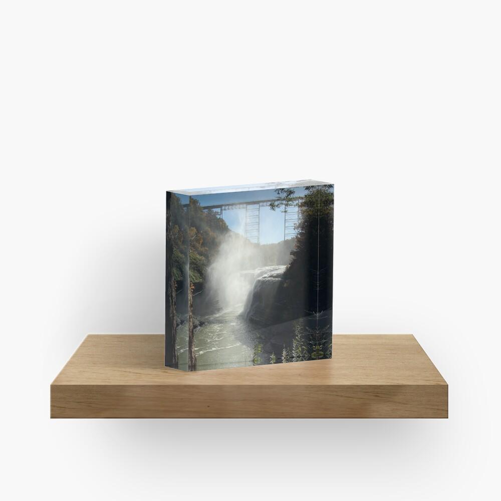 Autumn Falls Acrylic Block