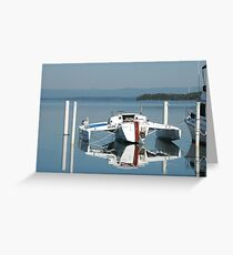 Reflection over Lake Macquarie NSW Greeting Card