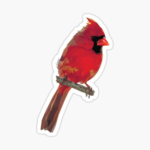 Crystalline Cardinal Sticker