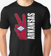 Peace in Arkansas flag USA t-shirt Unisex T-Shirt