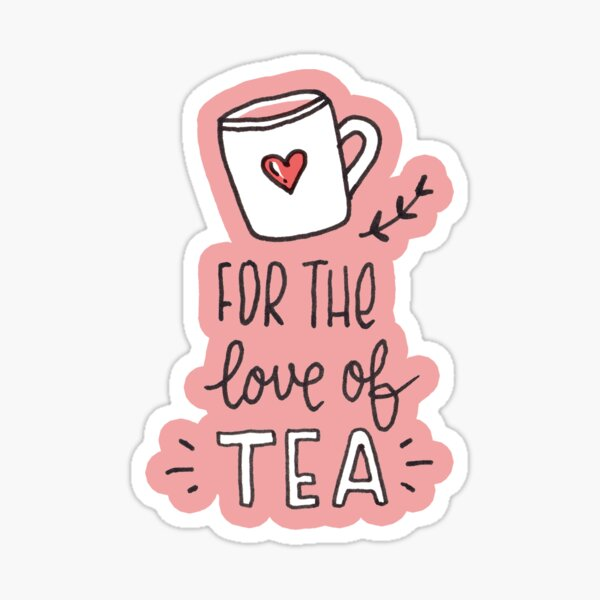 Tea illustrated pattern Sticker