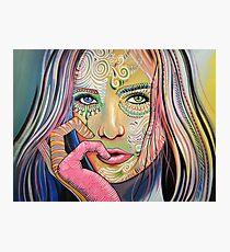 Abstract Modern Art Girl Woman / Soul of Sunshine Photographic Print