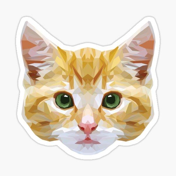 Crystalline Cat Sticker