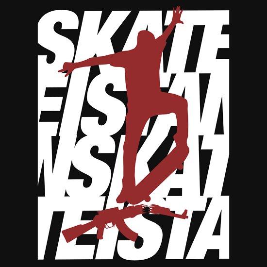 TShirtGifter presents: Skateistan - Text Heavy (Dark)