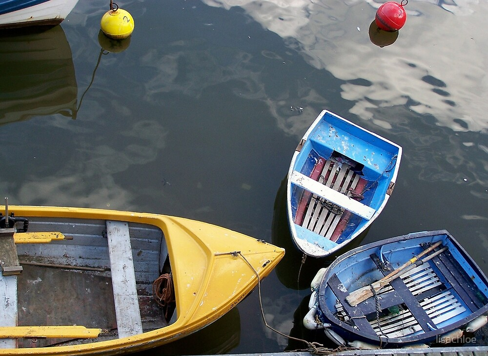 3 Colourful Boats In Whitby, North Yorkshire by lisachloe