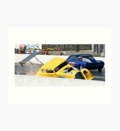 "Yellow ""SLAM / IMPACT"";Casey Treu; Summit Series Racer; Fomosa Raceway USA  Art Print"