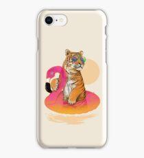 Chillin, Flamingo Tiger iPhone Case/Skin