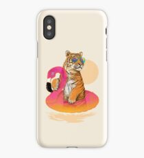 Chillin, Flamingo Tiger iPhone Case/Skin