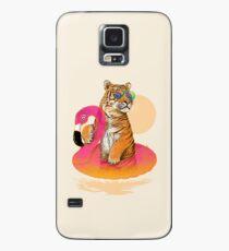 Chillin, Flamingo Tiger Case/Skin for Samsung Galaxy