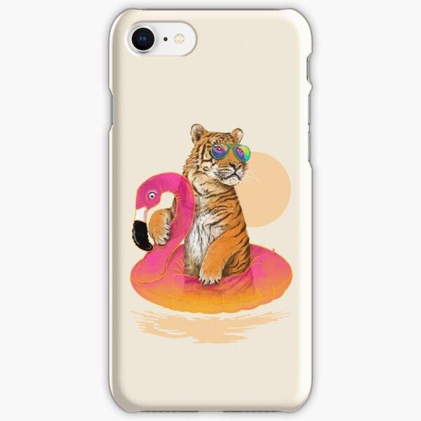 Chillin, Flamingo Tiger iPhone Snap Case