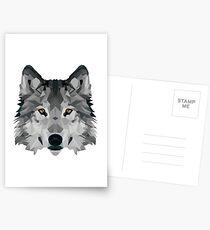 Crystalline Wolf Postcards